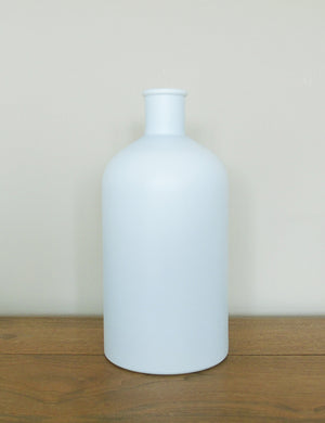 Recycled Frosted Glass Bottle Vase - Large