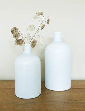 Recycled Frosted Glass Bottle Vases