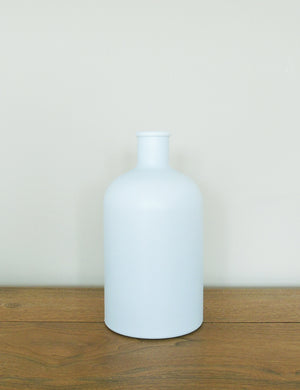 Recycled Frosted Glass Bottle Vase - Small