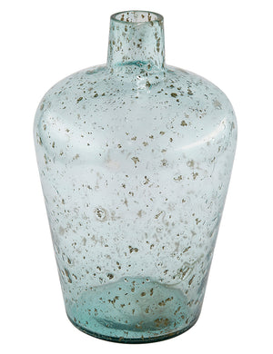 Recycled Glass Large Bottle Vase - Tall