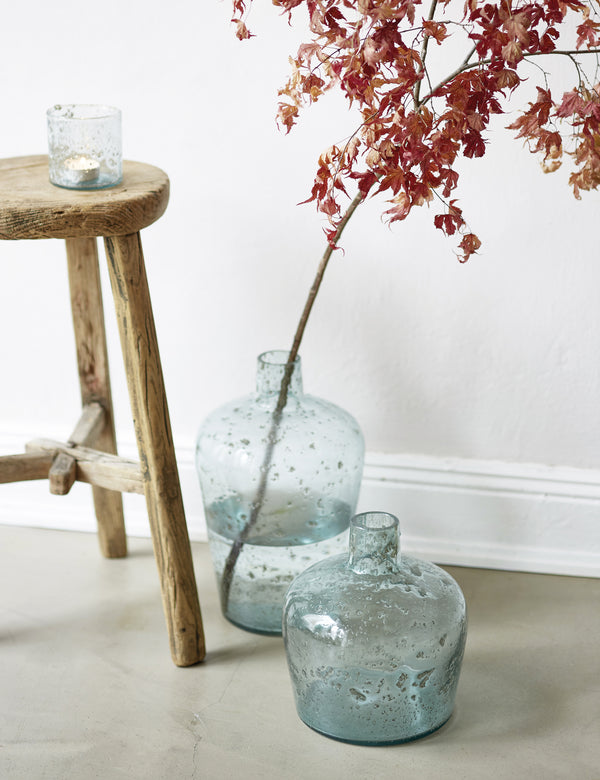 Recycled Glass Large Bottle Vases