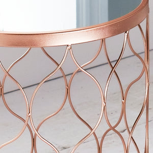 Rose Gold Drum Side Tables