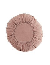 Round Linen Dusky Rose Cushion
