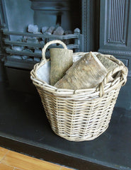 Rustic Rattan Storage Basket | The Den & Now