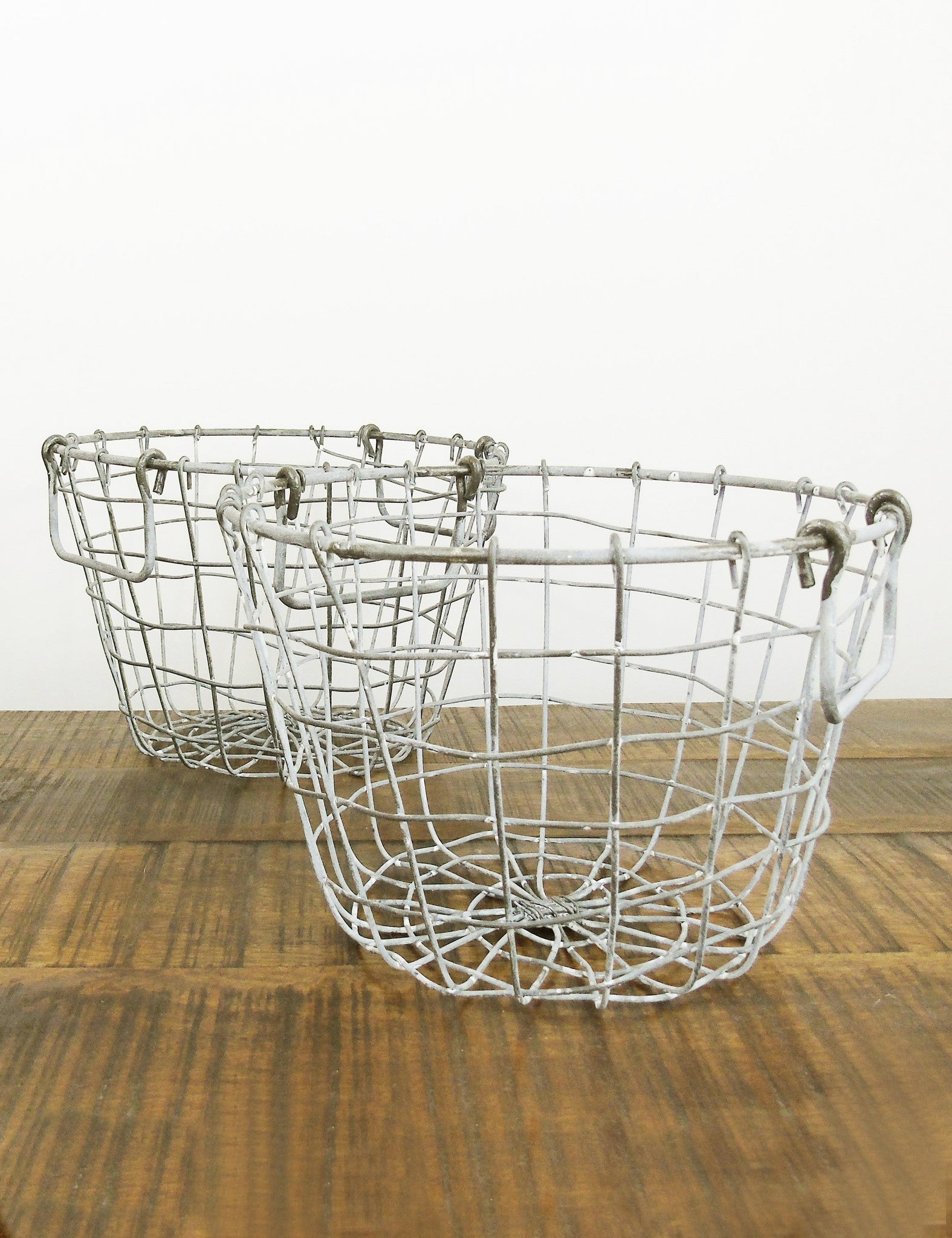 kitchen baskets storage rustic wire basket the den amp now 2294