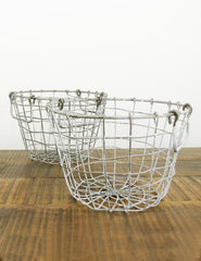 Rustic Wire Basket | Buy Rustic Homeware | The Den & Now