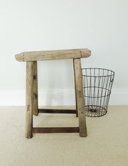Rustic Wooden Stool | The Den & Now