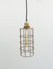 Industrial Wire Cage Pendant Light - Cylinder
