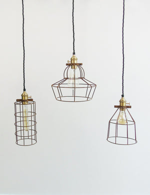 Industrial Wire Cage Pendant Lights