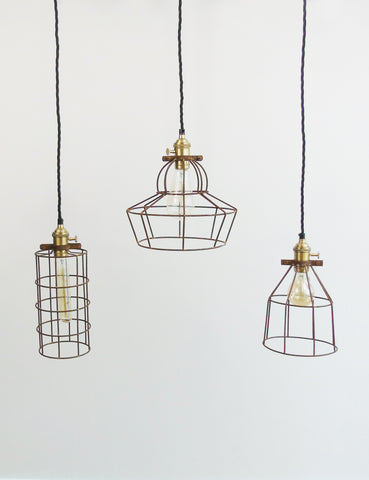 Simple Industrial Wire Cage Pendant Ceiling Light