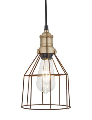 Simple Industrial Wire Cage Cone Pendant Light by Industville