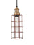 Simple Industrial Wire Cage Cylinder Pendant Light by Industville