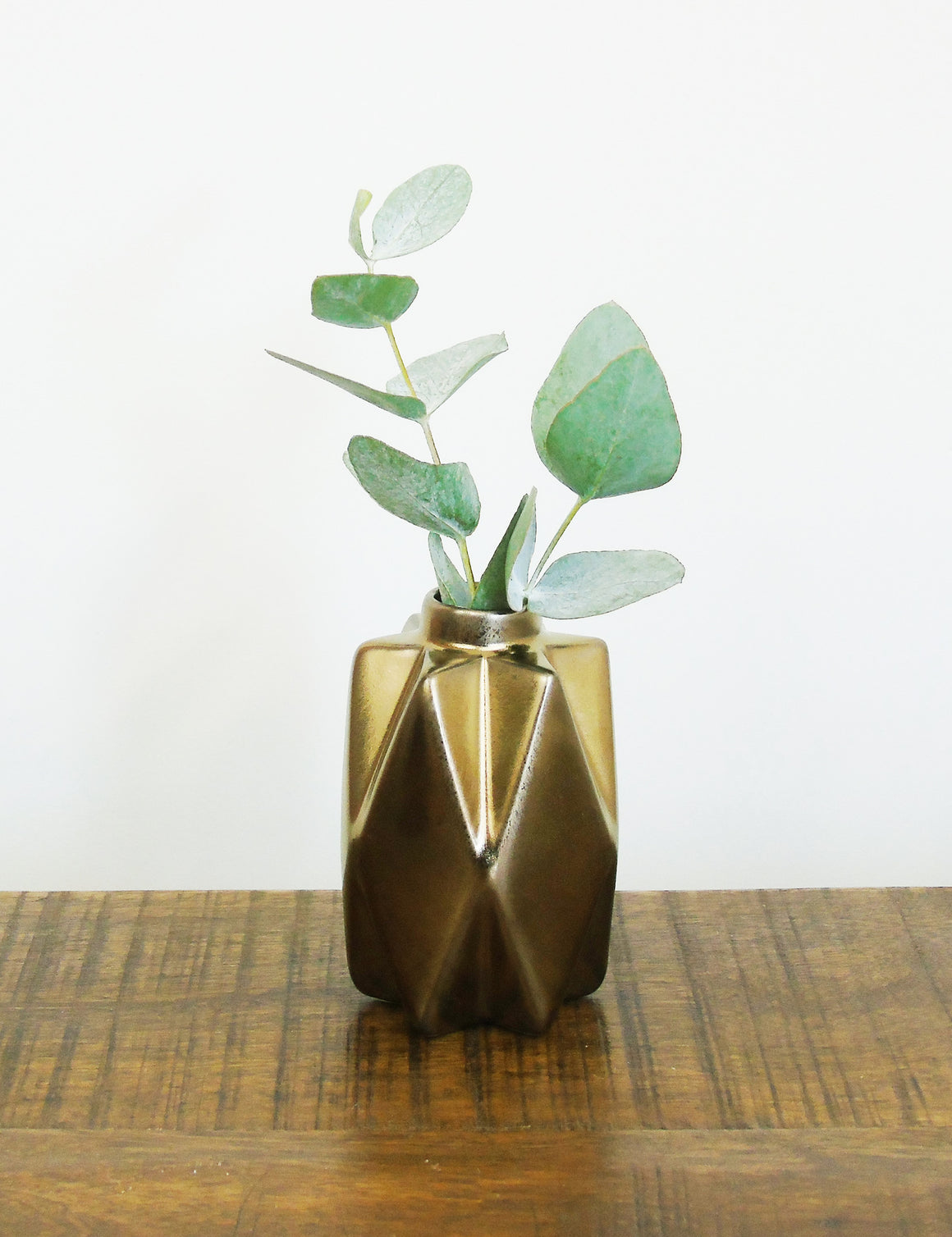 Small Bronze Geometric Ceramic Vase