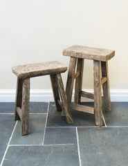 Rustic Wooden Stools | The Den & Now