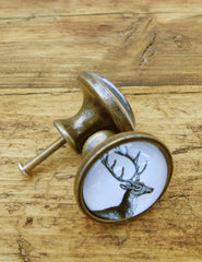 Stag Illustrated Drawer Knob | The Den & Now