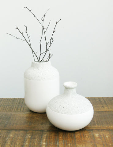 Stone Finish Ceramic Vase