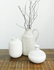 Stone Finish Ceramic Vase | The Den & Now