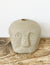 Stoneware Face Natural Sand Candle Holder
