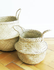 Seagrass Storage Baskets (Pair) | Buy Stylish Homeware | The Den & Now