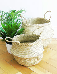 Straw Storage Baskets | Buy Scandinavian Homeware | The Den & Now