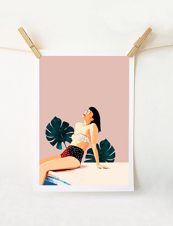 Sunday Retro Art Print