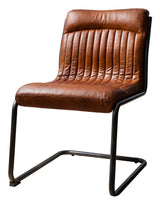 Tan Leather Mid-Century Chair