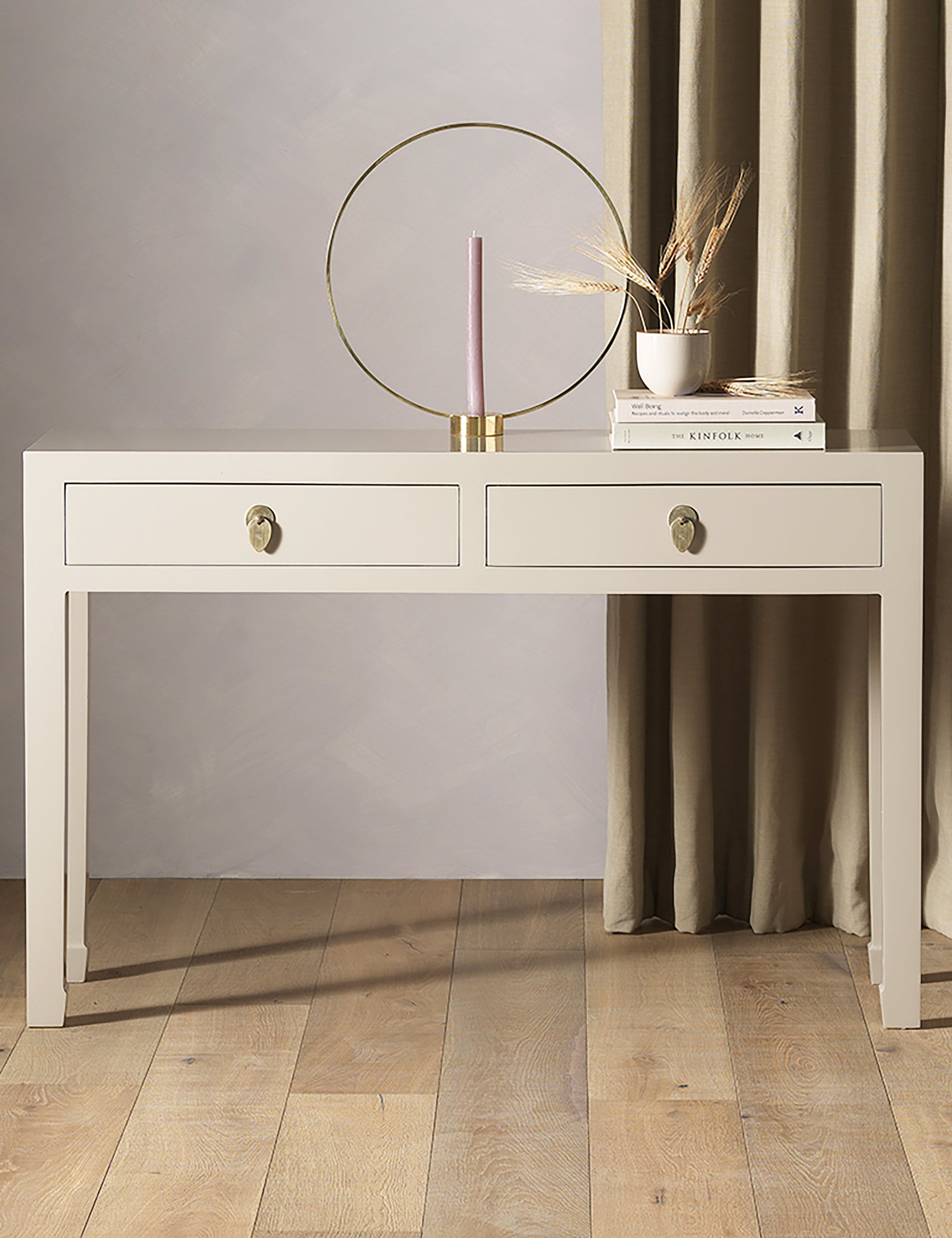Oriental Oyster Grey Console Table