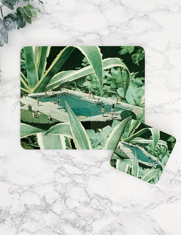 Tropical Summer Pool Artist Placemat