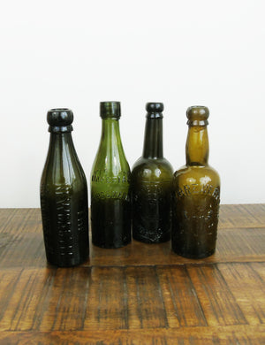 Vintage glass beer bottles