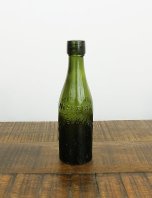Vintage glass beer bottle - 'Imperial Phillips & Marriott Wine & Spirit Merchant Coventry'