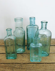 Vintage Glass Medicine Bottles | The Den & Now