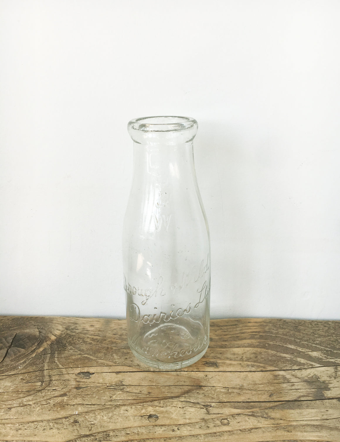 Vintage Glass Milk Bottle