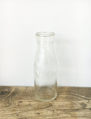 Vintage Glass Milk Bottle - Haves & Sons Ltd Shop Flixton