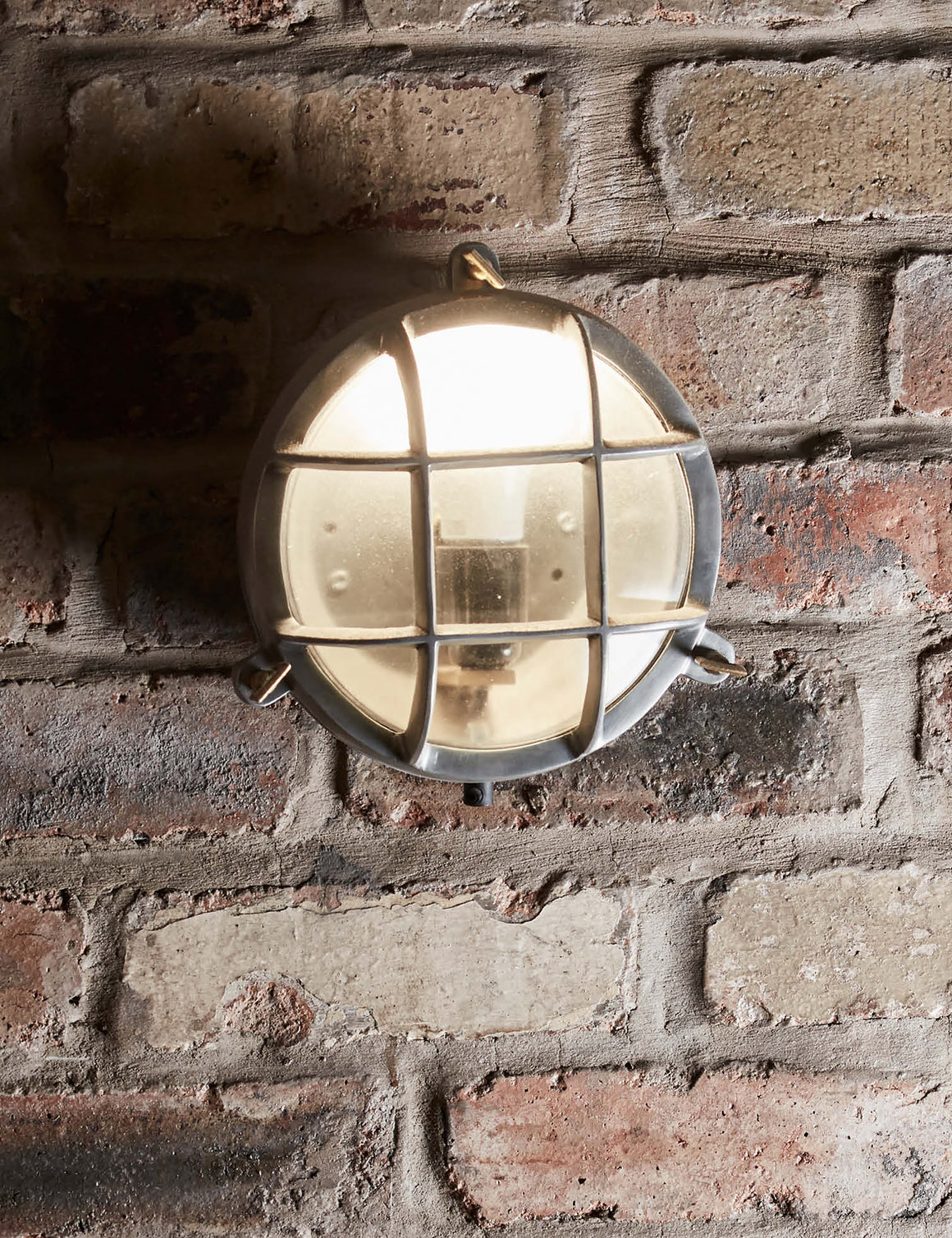 Vintage Industrial Heavy Round Bulkhead Retro Wall Light by Industville