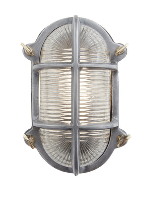 Vintage Industrial Heavy Oval Bulkhead Retro Wall Light by Industville