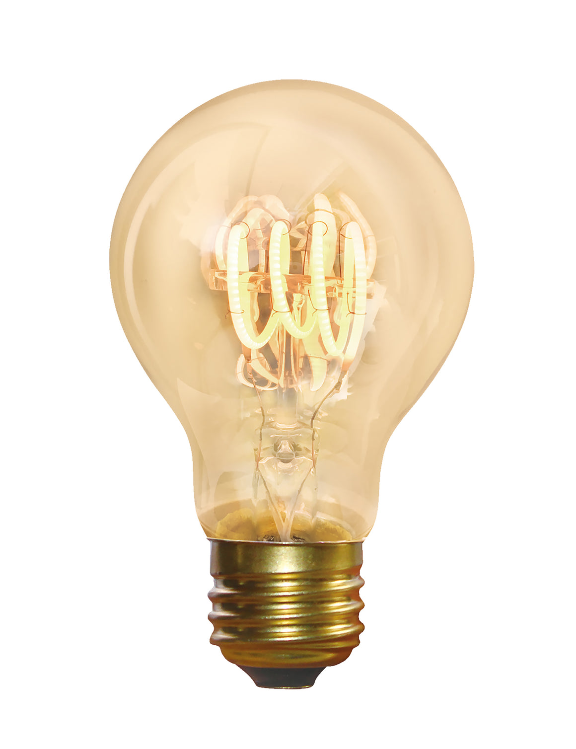 Vintage Spiral LED Edison Bulb Old Filament Lamp - 5W E27 Classic A60 - Amber