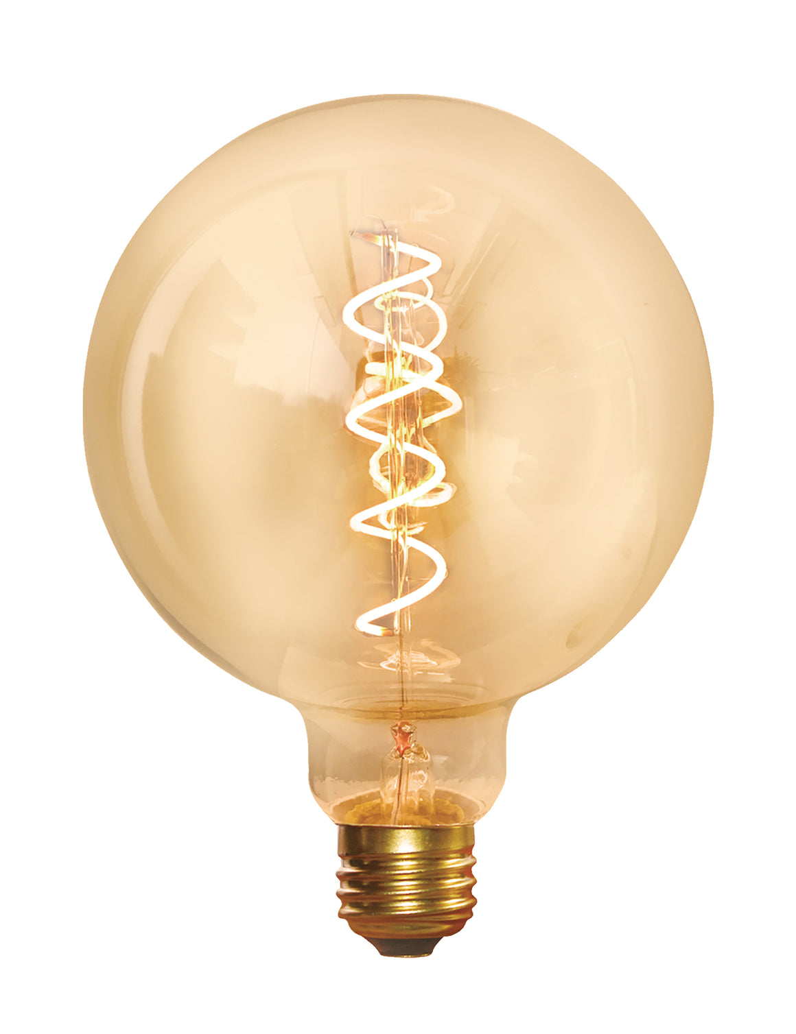 Vintage Spiral LED Edison Bulb Old Filament Lamp - 5W E27 Small Globe G95 - Amber