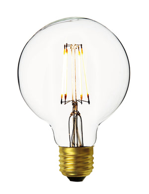 Vintage LED Edison Bulb Old Filament Lamp - 7W E27 Small Globe G95 - Clear