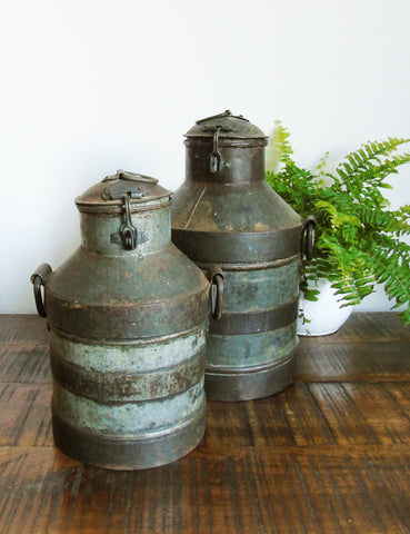Vintage Mini Milk Churns