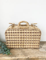 Vintage Rattan Small Picnic Bag