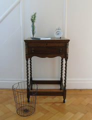 Vintage Wooden Cutlery Table | The Den & Now