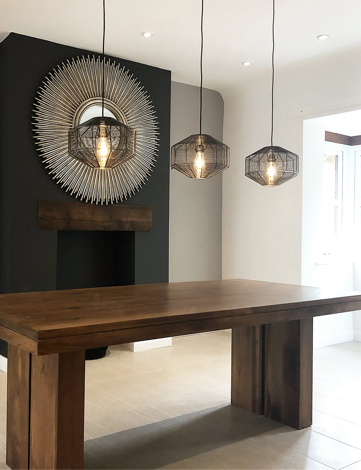 Wire Cage Round Pendant Light by Industville | @cocoonandbauer
