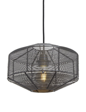 Wire Cage Round Pendant Light by Industville