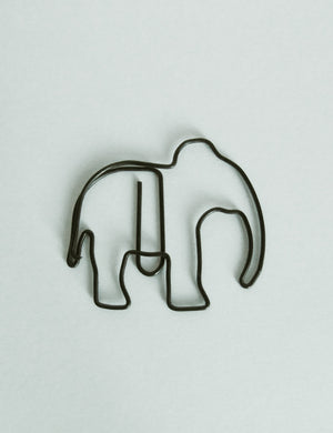 Wire Illustrated Elephant Paper Clips