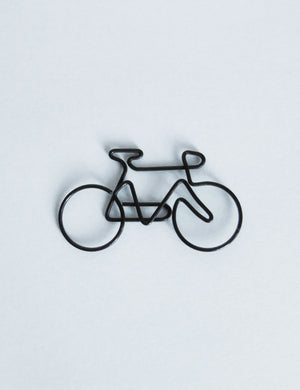 Wire Illustrated Bike Paper Clips - Retro Bike