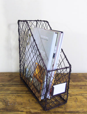 Wire Magazine Rack
