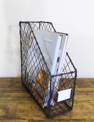 Wire Magazine Rack | Office Storage Solutions | Buy Unique Homeware | The Den & Now