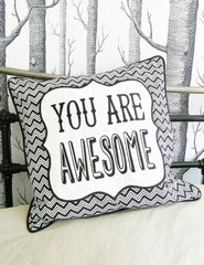 Are Awesome Cushion | The Den & Now