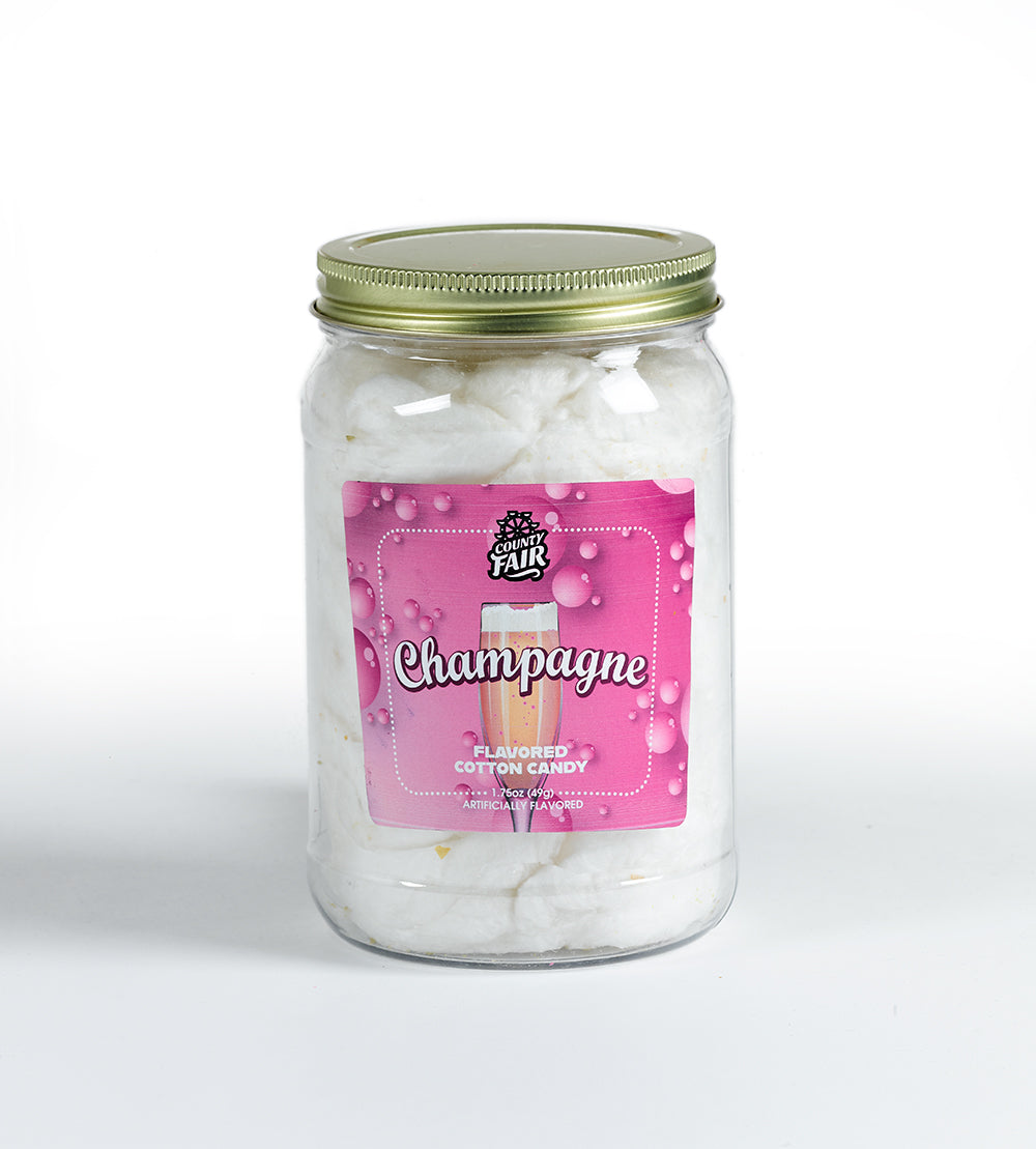 Champagne Cotton Candy with Gold Glitter (Set of 6 tubs)