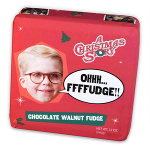 Christmas Story Chocolate Walnut Fudge Tins